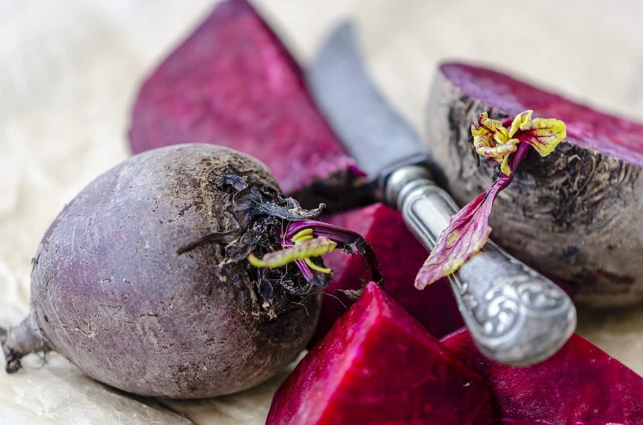 Impact figure with beet diet